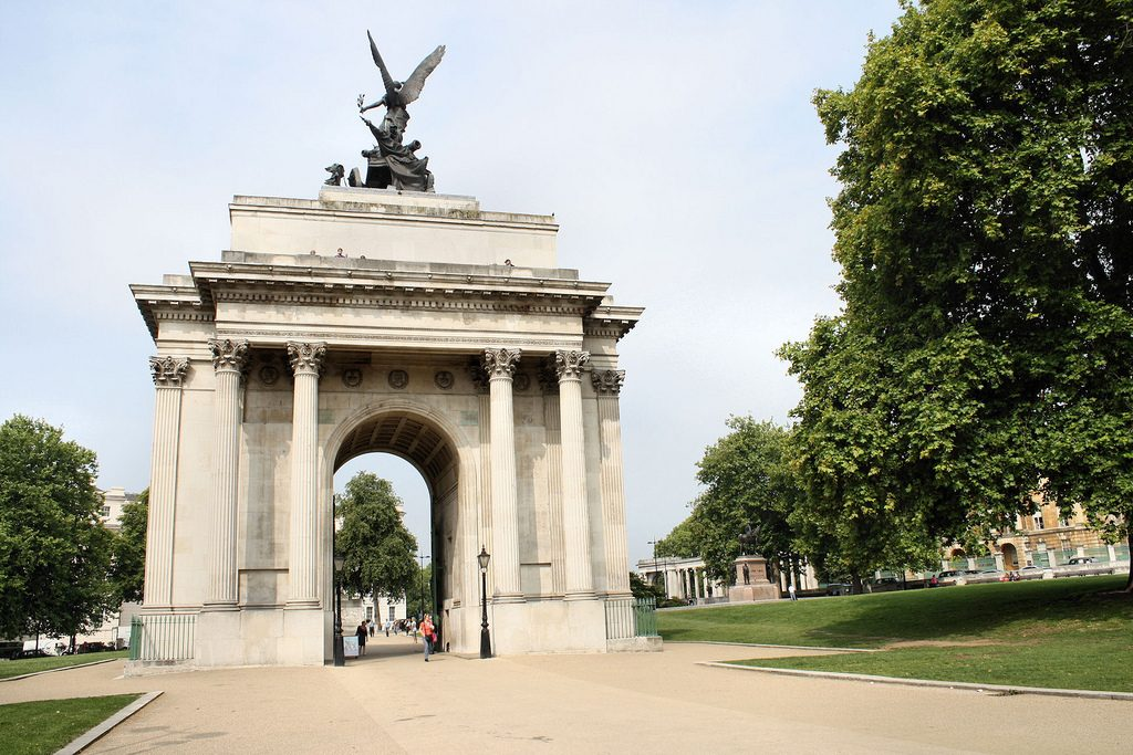 Security alarm system at Wellington Arch
