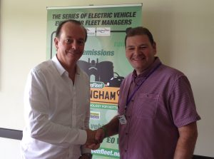L-R Quentin Wilson with Tecserv Operations Director Neil Berrisford at Greenfleet Nottingham