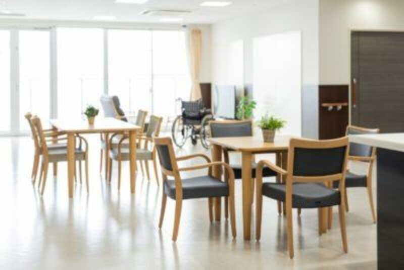 Care home tables and chairs